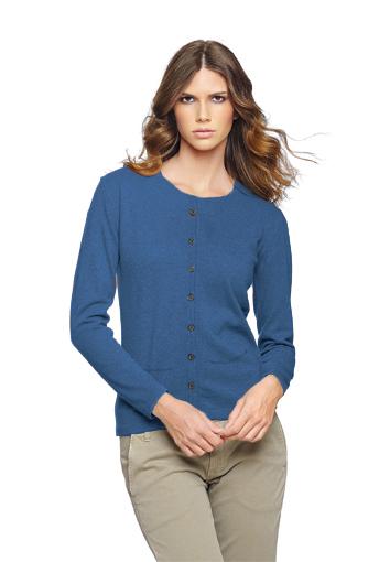 Rdc cardigan bleu moyen poche
