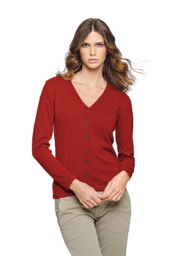 Cardigan femme rouge