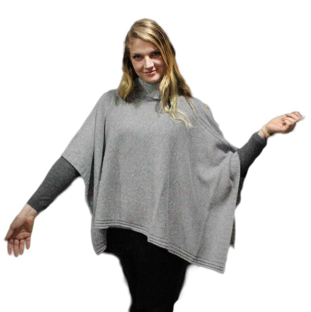 Poncho gris clair