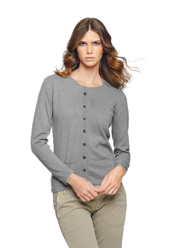 Rdc cardigan gris clair poche